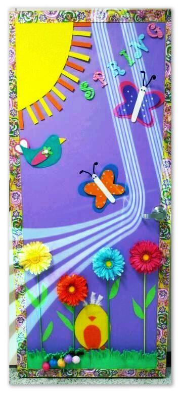 Soy preescolar ideas para primavera for Ideas puertas salon