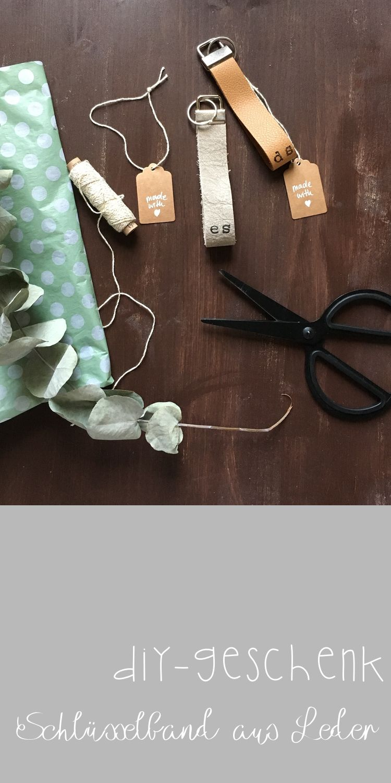 DIY Schlüsselband aus Leder. Perfekt zum Verarbeiten von Leder-Resten und ein super individuelles Geschenk.