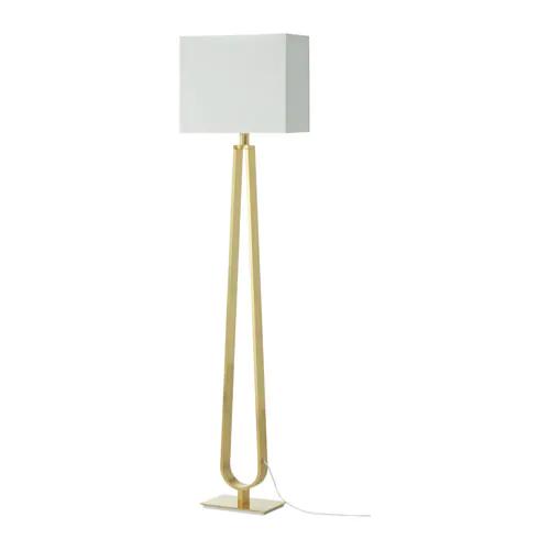 Klabb Floor Lamp With Led Bulb Off White Brass Color Floor Lamp Brass Floor Lamp Colorful