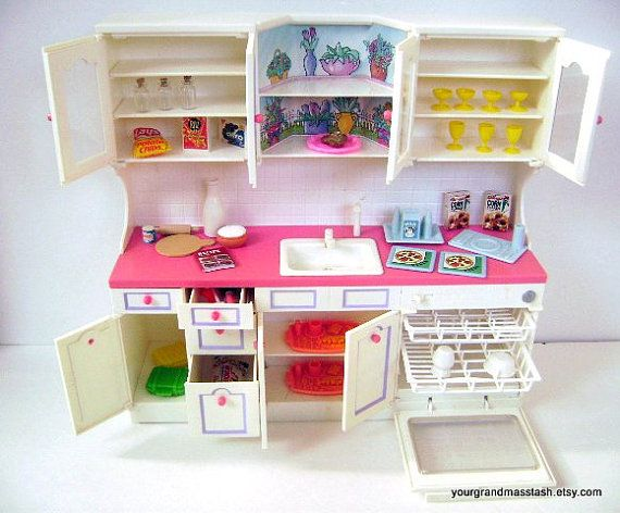 tyco kitchen littles kitchen sink playset barbie doll house furniture plus accessories