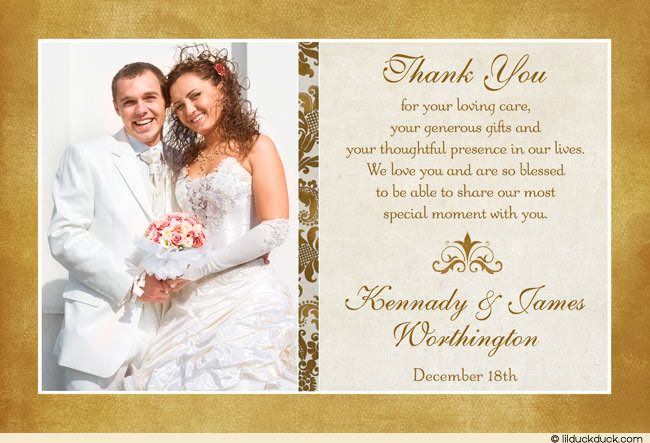 Tips To Write Wedding Thank You Cards Templates