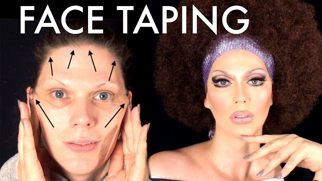 Diy facelift face taping secrets of a drag face tape diy facelift face taping secrets of a drag solutioingenieria Image collections