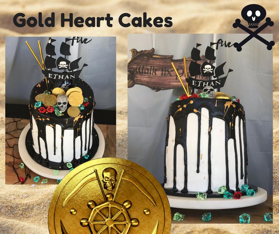 Pirate Themed B'Day Cake http://goldheartcakes.website/fun kids
