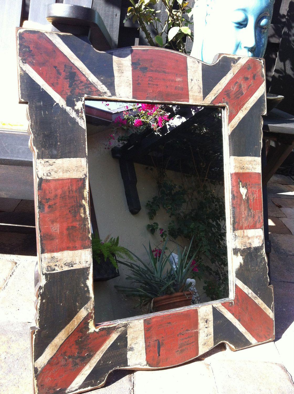 union jack mirror hail britannia in 2019 union jack. Black Bedroom Furniture Sets. Home Design Ideas