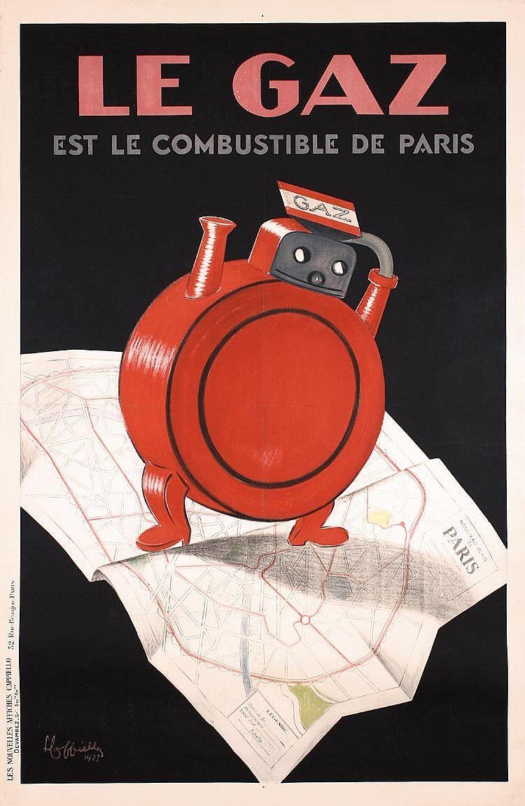 Le gaz est le combustible de Paris - 1927 - (Leonetto Cappiello) -
