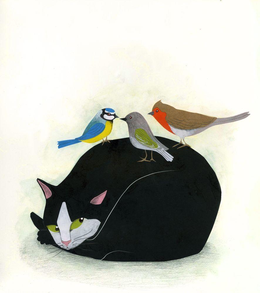 karine daisay: Chat & Oiseaux