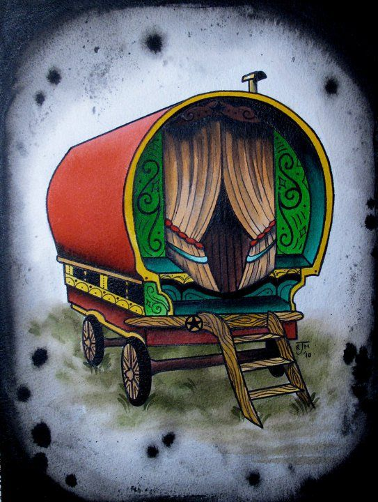 gypsy caravan tattoo - Google Search