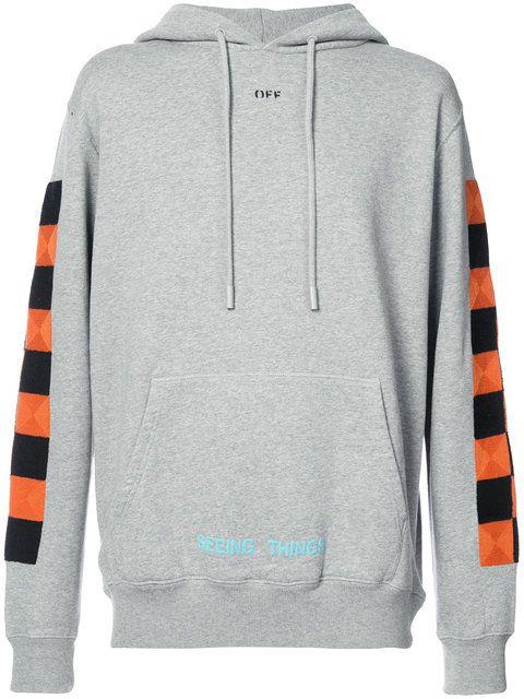 5c24033b0f95 OFF-WHITE checker hoodie.  off-white  cloth  hoodie
