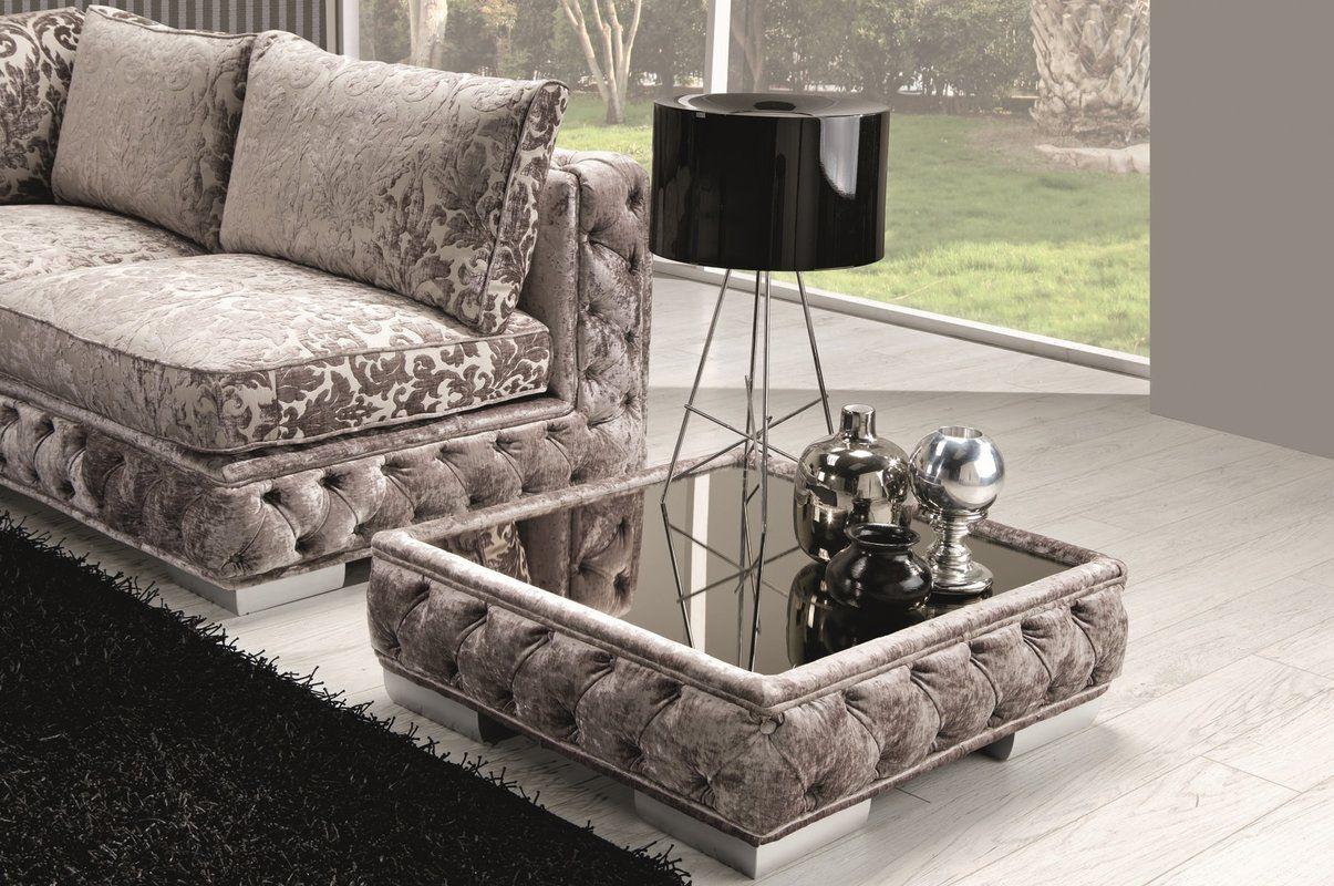 Kina Coffee Table Fabric Gl Top