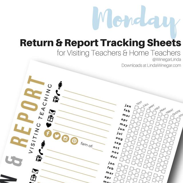Visiting Teaching & Home Teaching Return & Report Tracking Sheets ...