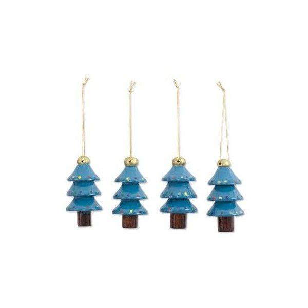 NOVICA Artisan Crafted 4 Piece Set of Christmas Tree Ornaments ($23