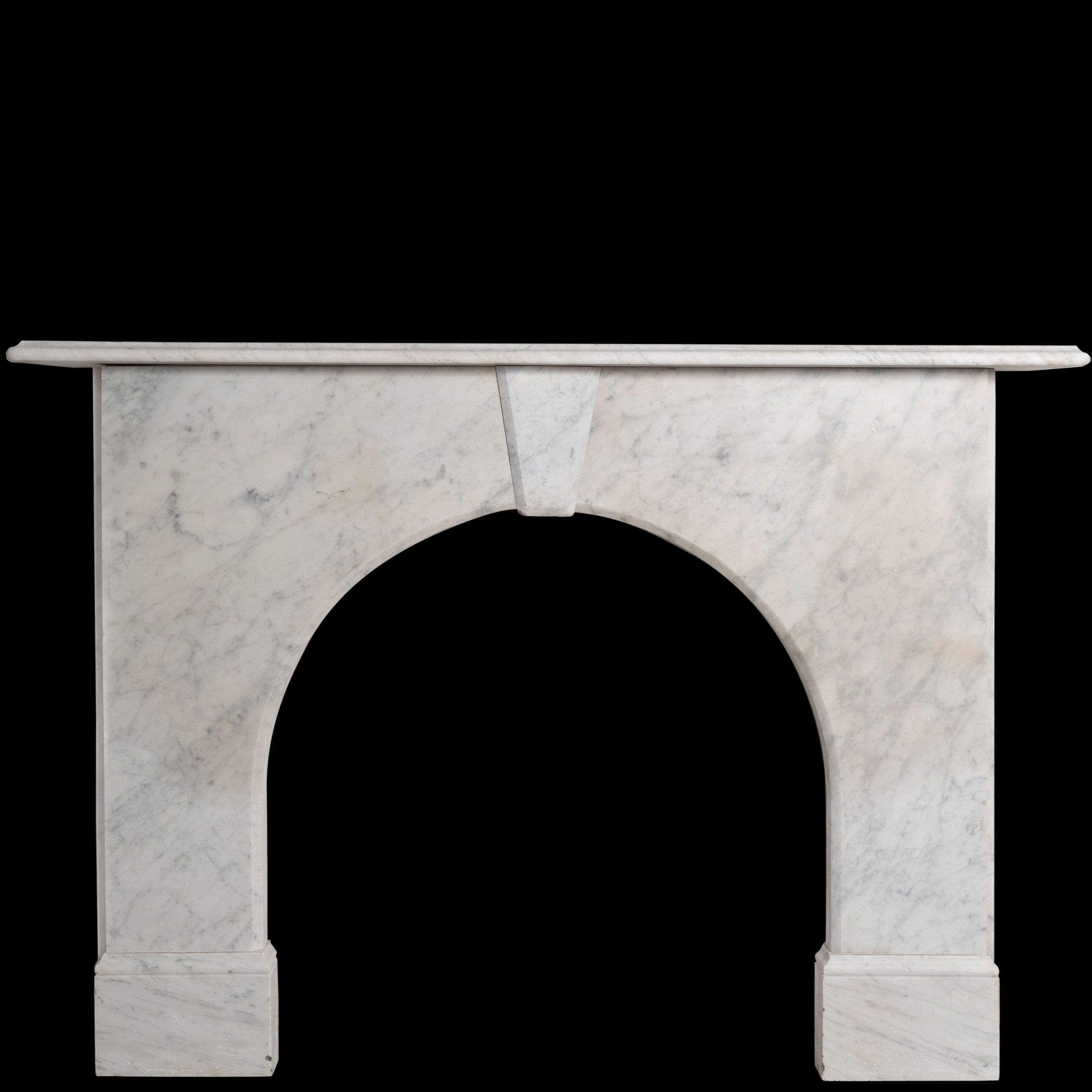 Antique Victorian Arched Marble Fireplace Surround Fireplace