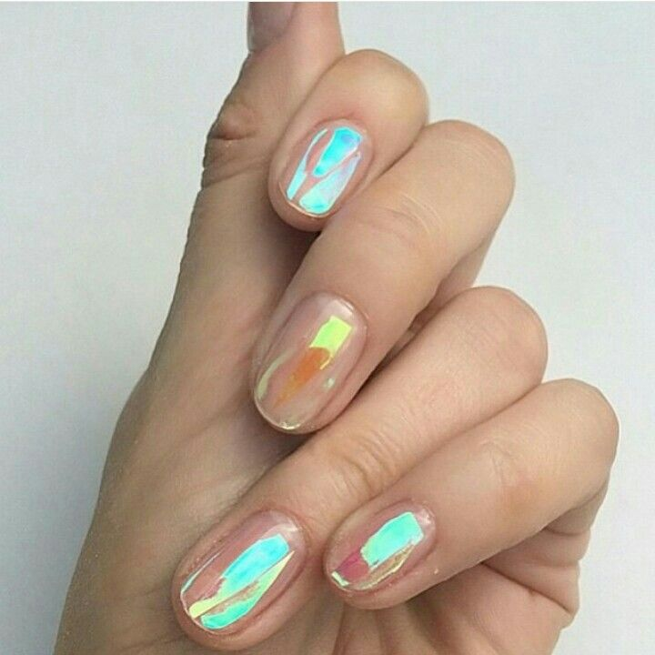 Nail foil   Gorgeous Manicures   Pinterest   Nail foil, Make up and ...
