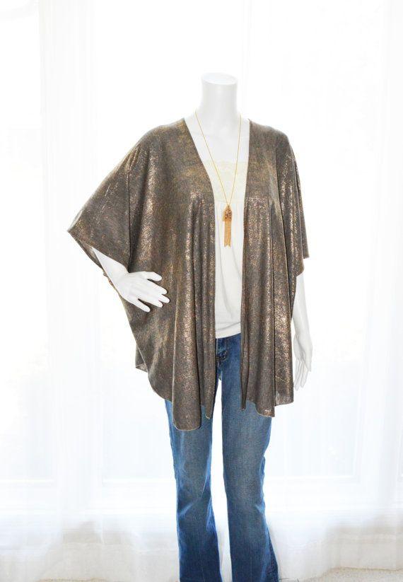 Gold Kimono Cardigan/ Kimono Jacket / Lightweight by JessMDesigns ...