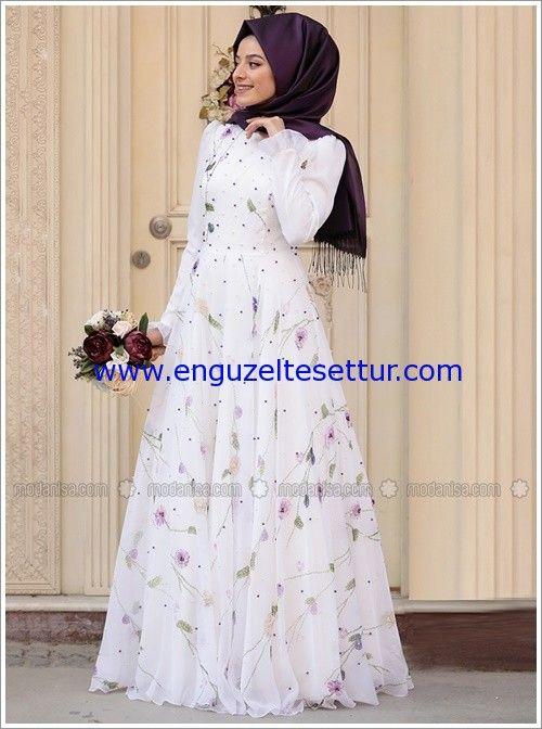 En Guzel Tesettur Nikah Elbiseleri 2018 En Guzel Tesettur Cicekli Kiz Elbiseleri Elbise Victorian Elbiseler