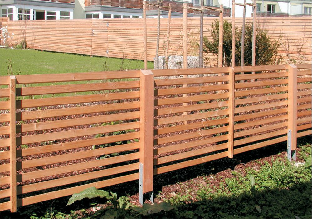 Waagrechtzaun Und Sichtschutz Kombiniert Garten Pinterest