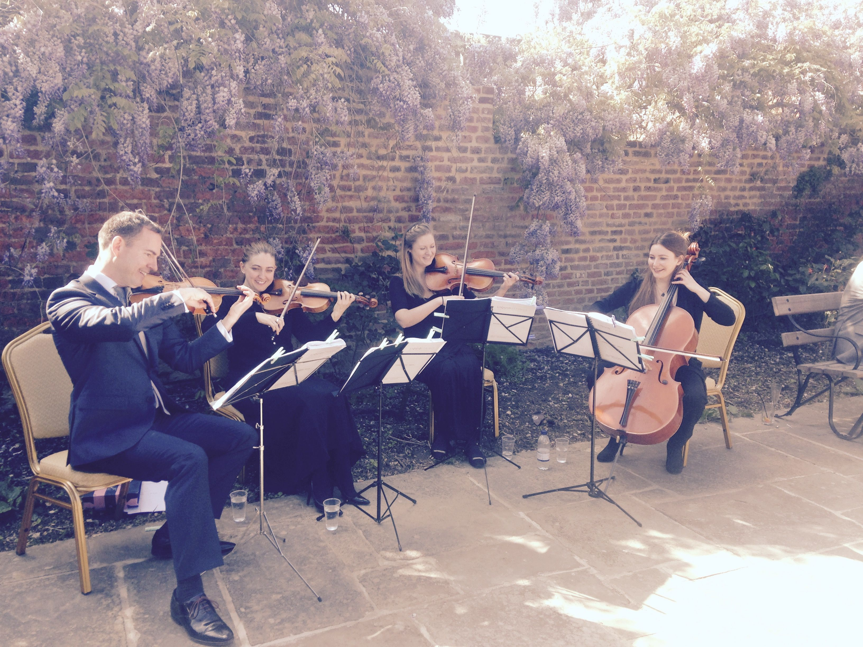 Outdoor Wedding String Quartet At Forty Hall
