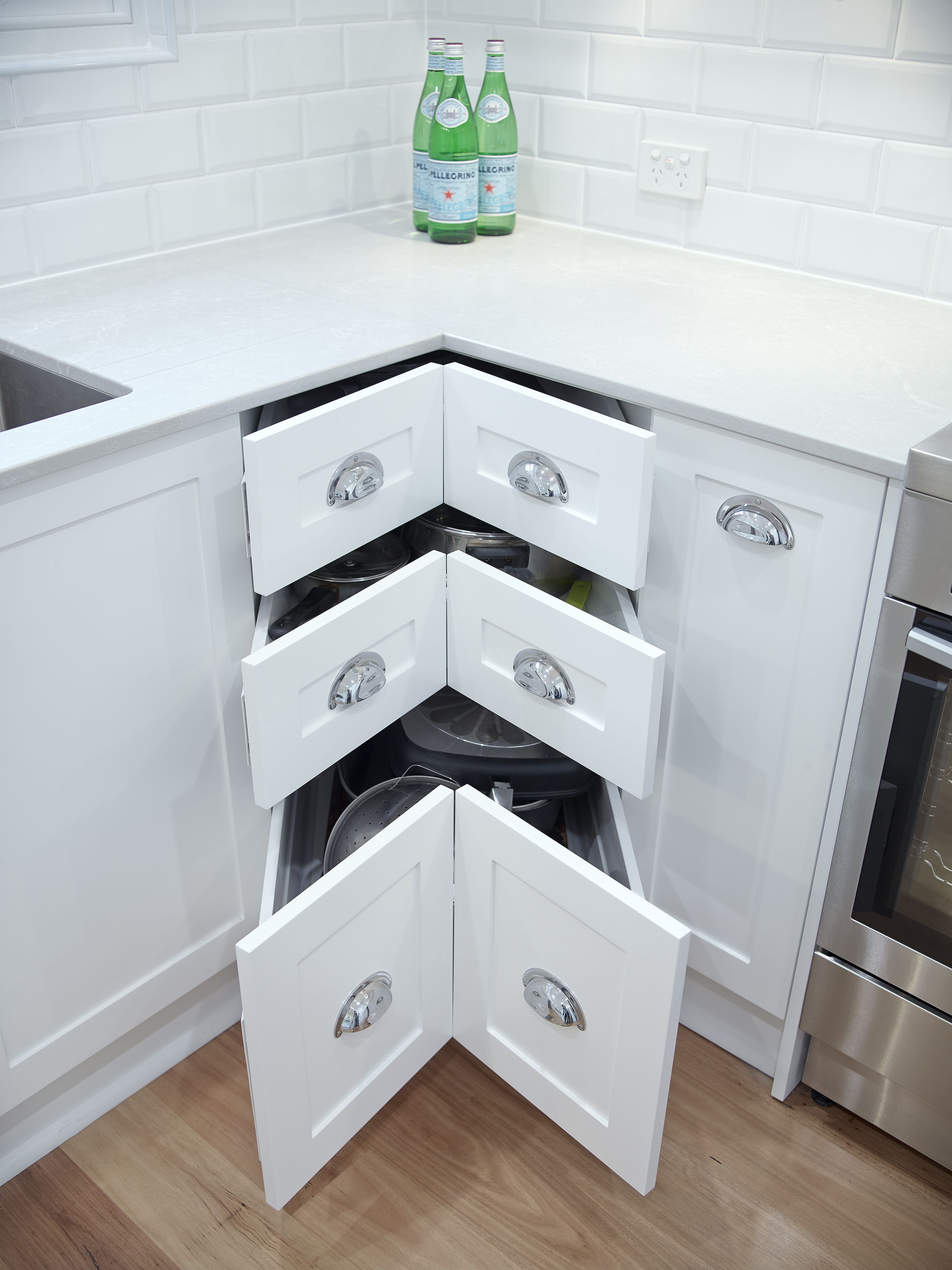 Its a miracle! Corner drawers! Never have to worry about reaching ...