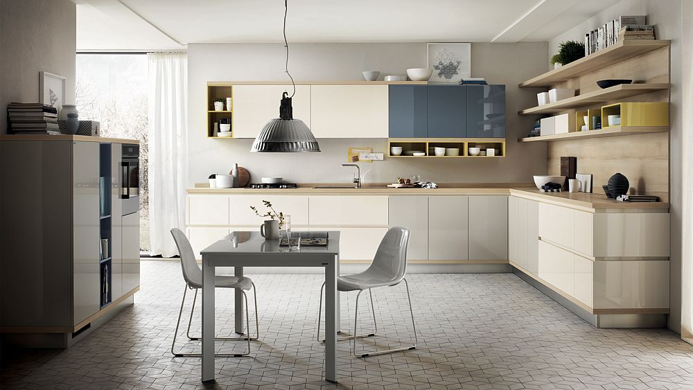 Latest Generation Of Kitchen Shelves From Scavolini That Also Venture In The Living Room Kitchen Design Contemporary Kitchen Modern Kitchen Design