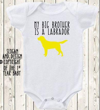 My Big Brother Sister Is A Labrador Retriever Lab Dog Onesie Brand