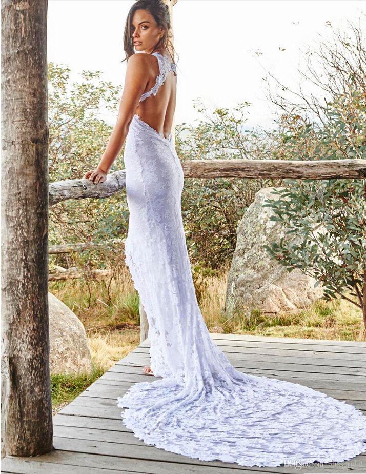 Open Front Dresses Mermaid Bride