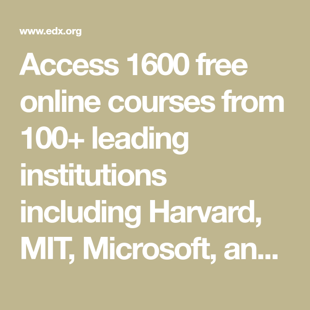 Access 1600 Free Online Courses From 100+ Leading