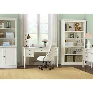 Martha Stewart Living Ingrid rubbed ivory desk at home ...