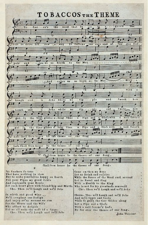 Music: Tobacco's the Theme From New York Public Library Digital Collections.