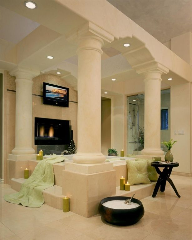 18 Master Bathrooms With Fireplaces Pictures  Luxurious Entrancing Luxurious Bathroom Inspiration