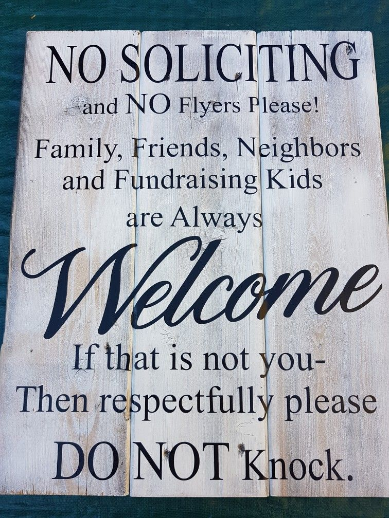 No soliciting barn wood sign | Custom made home decor for your ...