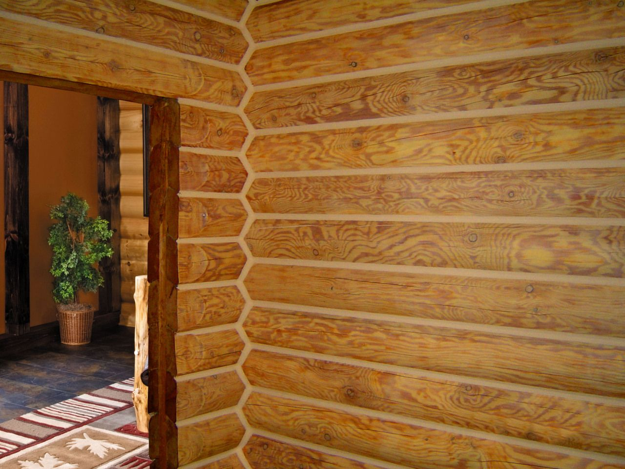 Lifeline interior butternut log home stain and perma chink How to stain log cabin