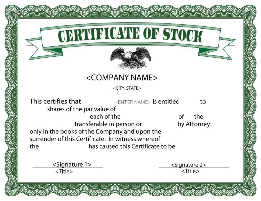 Stock Certificate Template   Escape Room Ideas