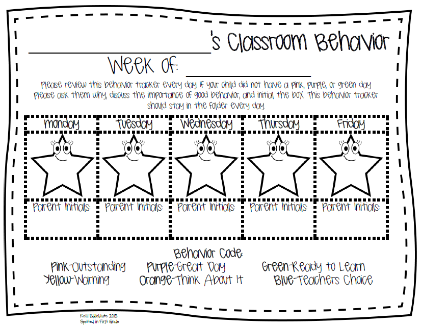 Spotted in First Grade: Classroom Behavior Management: The Clip ...