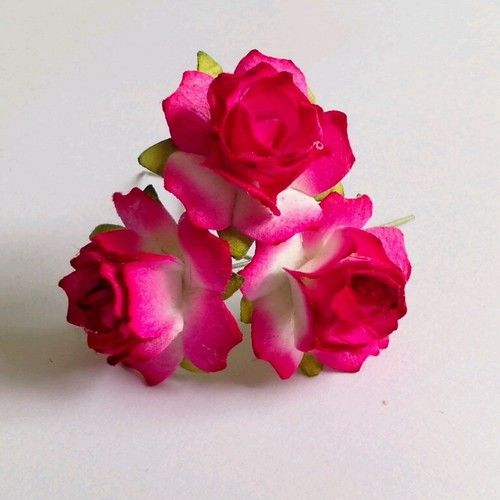 100 dark pink 2tones rose artificial mulberry paper flowers 100 dark pink 2tones rose artificial mulberry paper flowers wedding thailand price us mightylinksfo