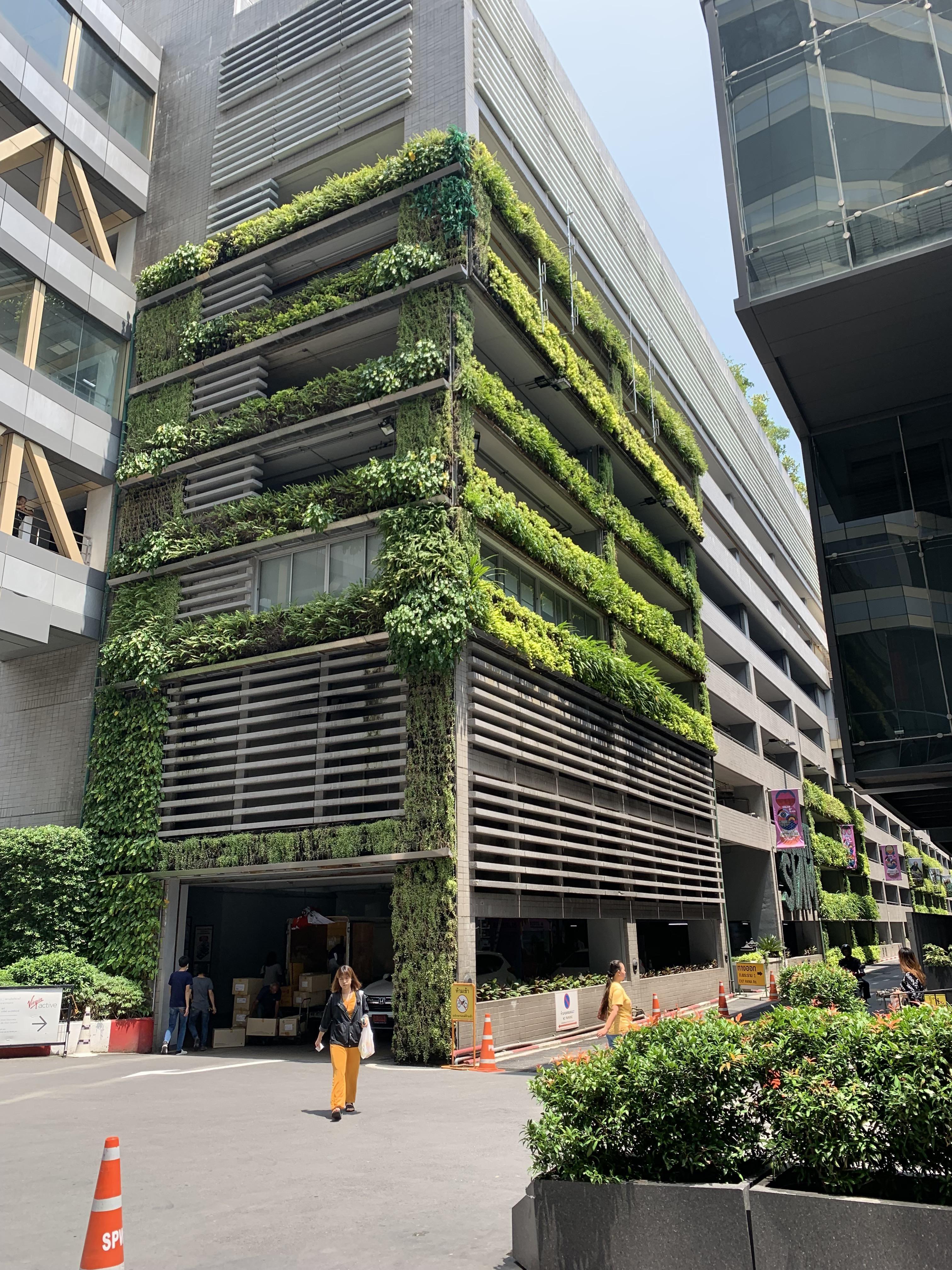 Cool garage in Bangkok Thailand gardening garden DIY