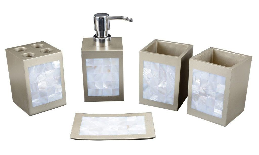 Mother Of Pearl Mosaic Bathroom Accessories
