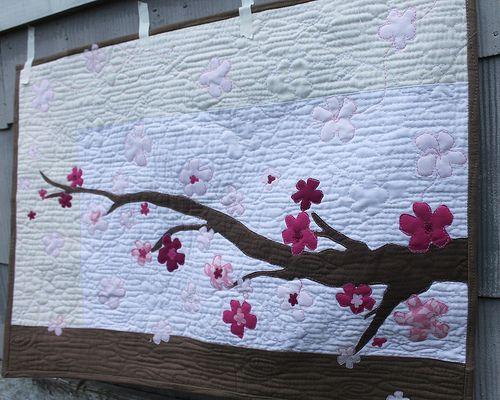 Cherry Blossom Quilt Japanese Quilt Patterns Flower Quilts Japanese Quilts