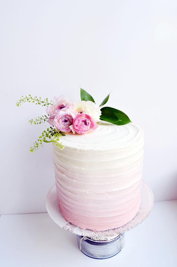 50 of the Prettiest Pink Wedding Cakes | OneFabDay.com