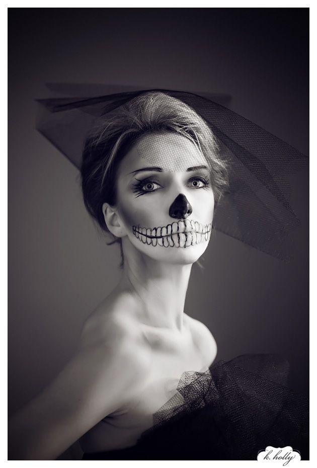 halloween makeup skeleton corpse bride - Skull Halloween Decorations