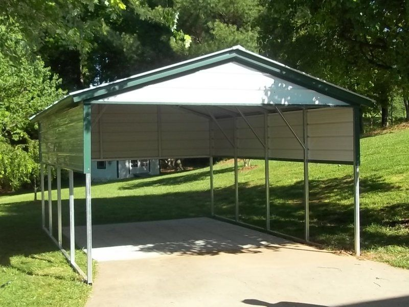 Single Carport For 1 Car Ideal For One Car Shelter Motorcycle Shelter Or Lawn Equipment Cover Metal Carports Metal Carport Kits Metal Building Kits Prices