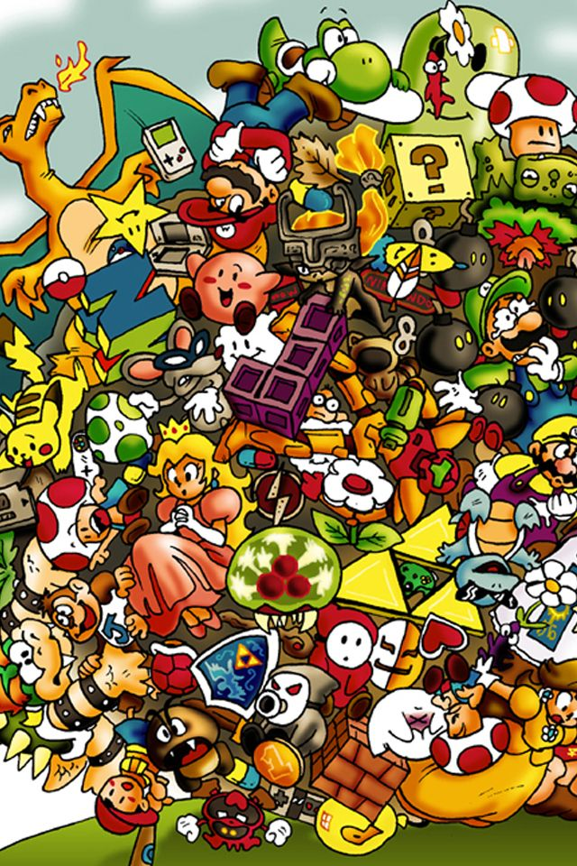 Nintendo characters yay for tattoos pinterest - Nes wallpaper ...