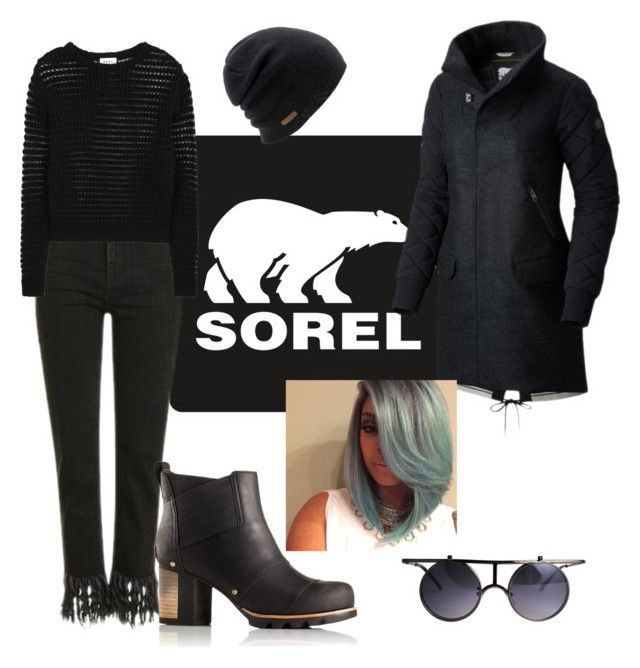 """Kick Up the Leaves (Stylishly) With SOREL: CONTEST ENTRY"" by tmorris-tm on Polyvore featuring SOREL, Topshop, DKNY, Coal and sorelstyle"