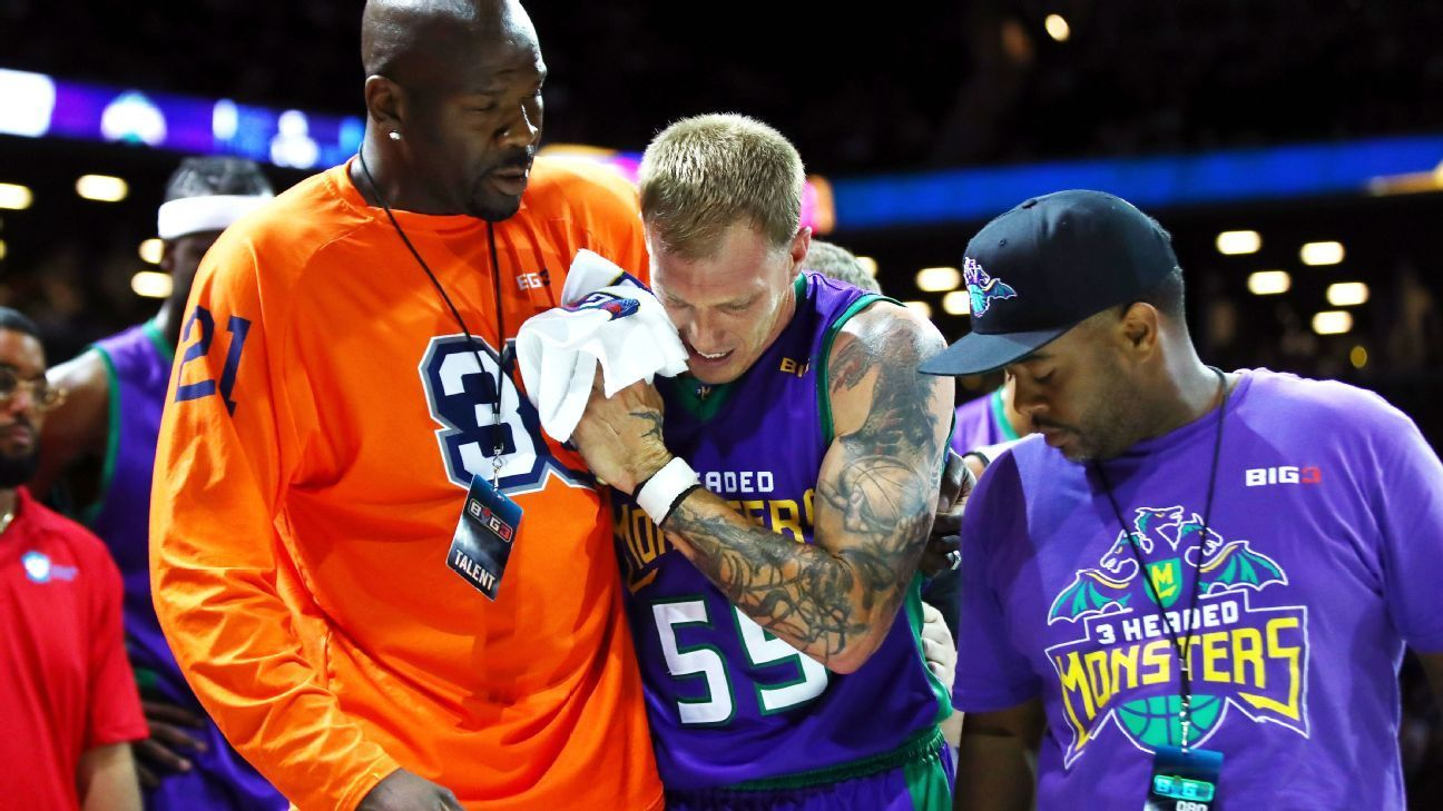 Jason Williams injures right leg as BIG3 League begins play - ESPN ...