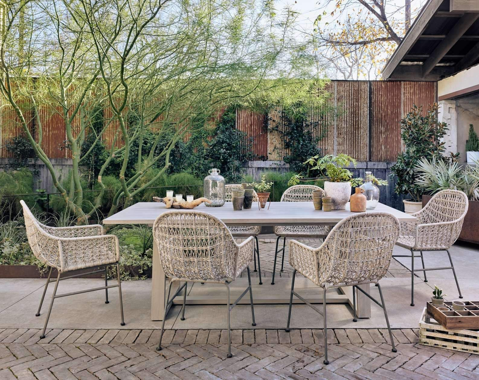 Atherton Outdoor Dining Table-GreyDefault Title