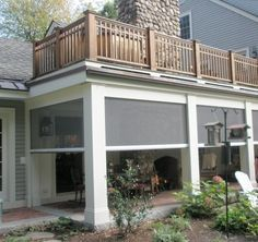 Retractable Screens For Porch Screened In Patio Traditional Porch New England Farmhouse