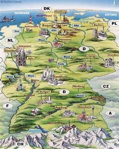 Map Of Castles In Germany  Bing Images  France Germany