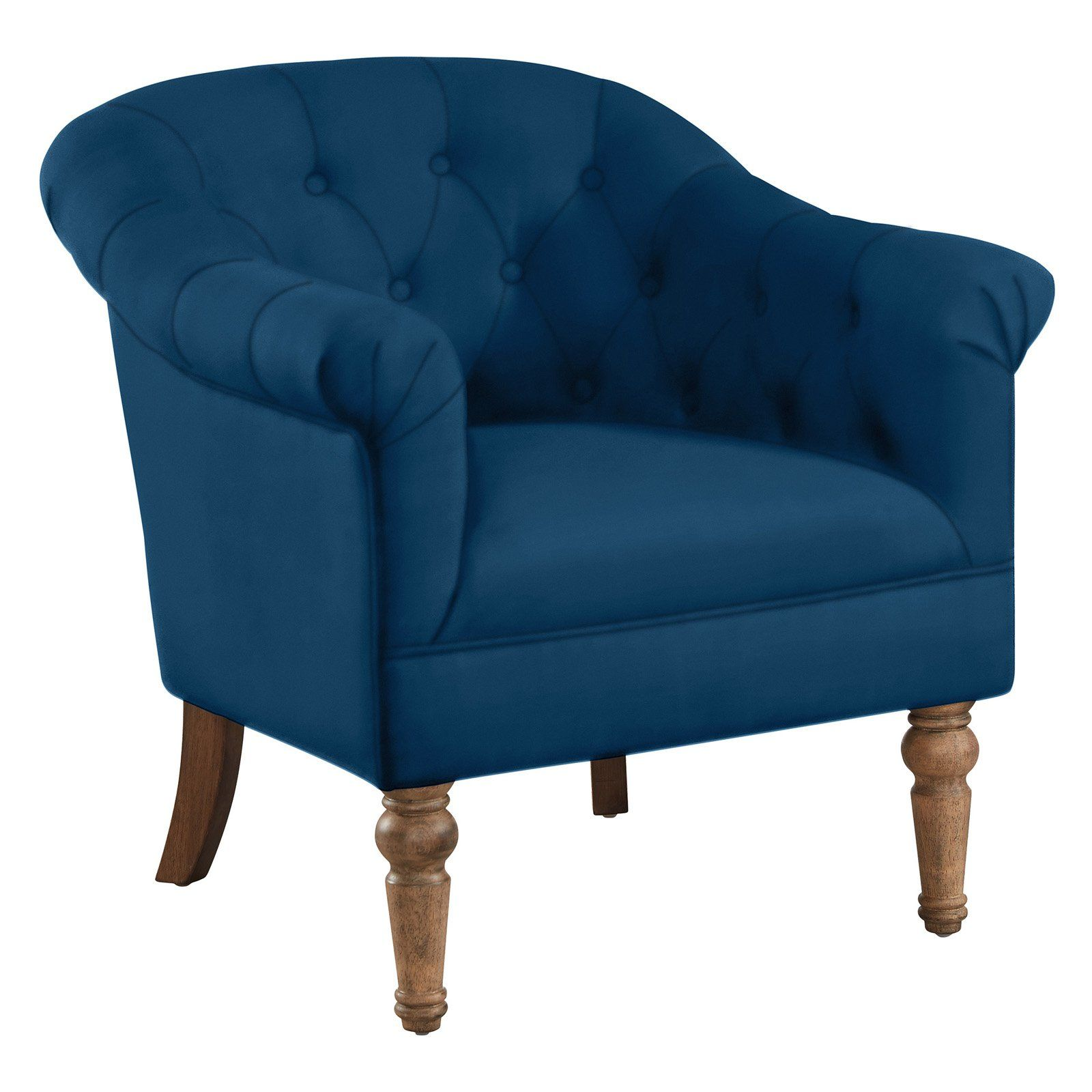 Best Nspire Button Tufted Arm Chair Blue Blue Accent Chairs 400 x 300
