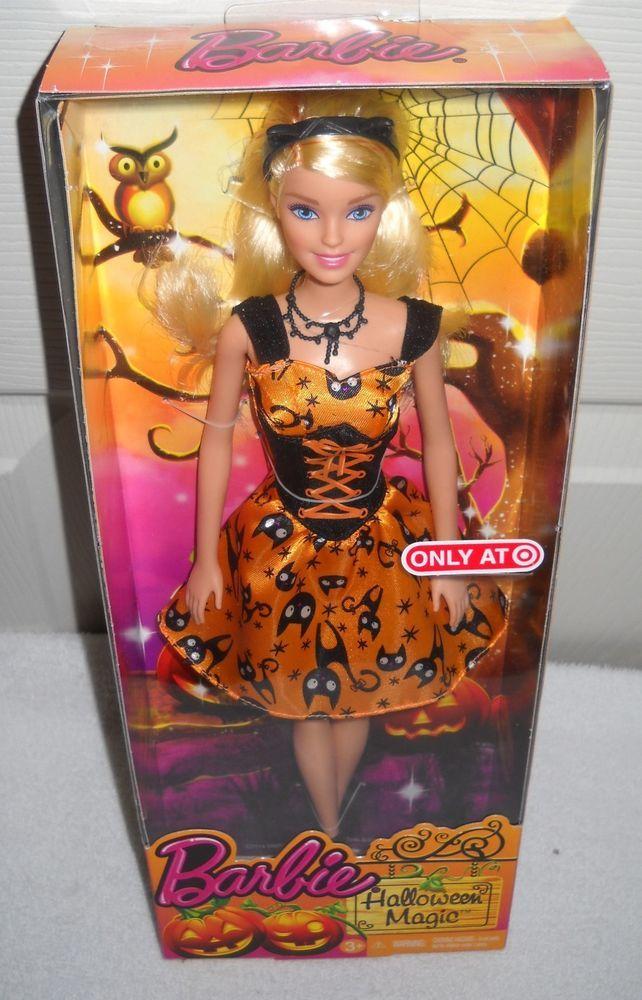 9191 NRFB Mattel Target Stores 2015 Halloween Magic Cat Barbie Doll