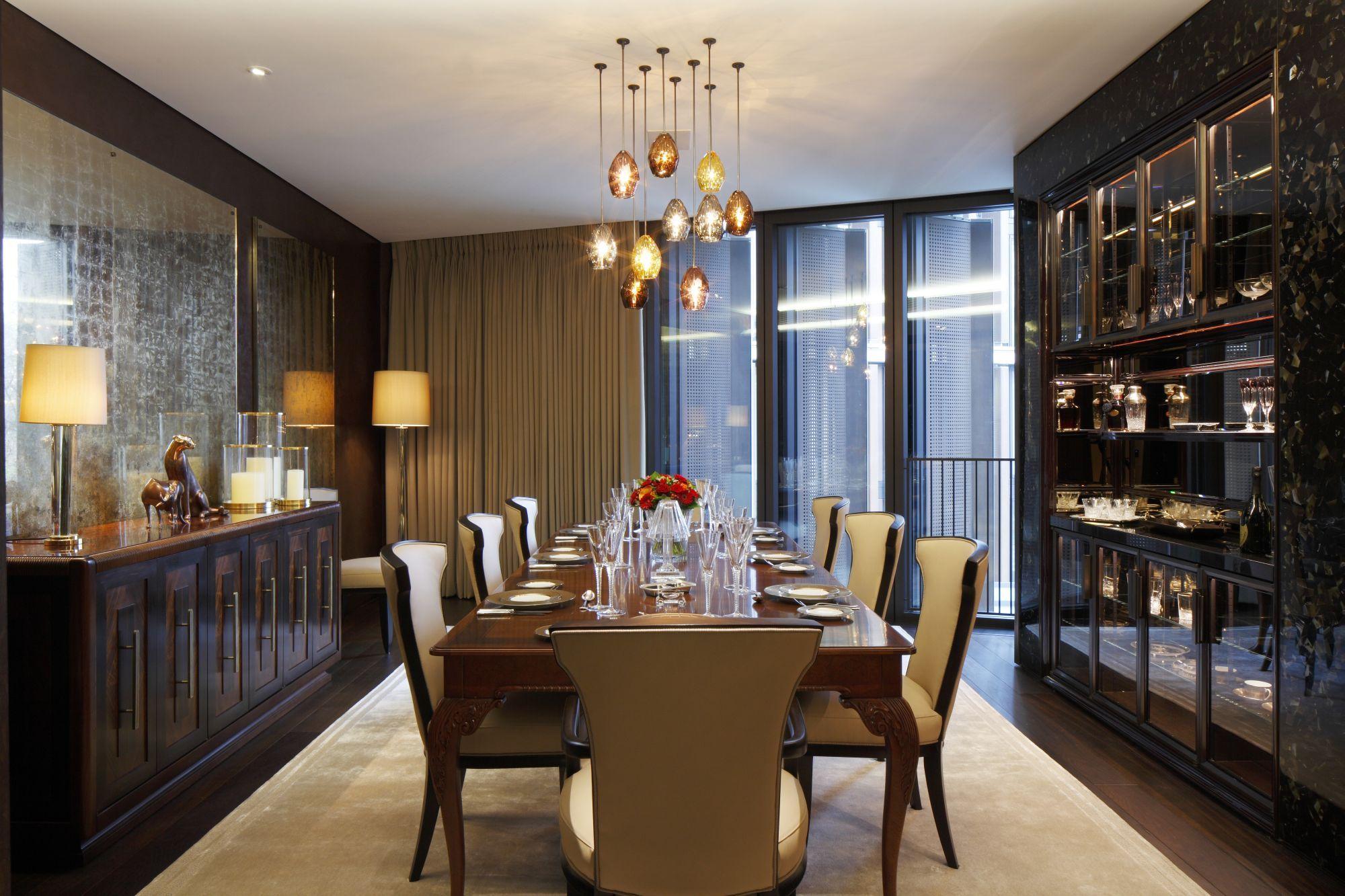 Dining Room Lighting In One Hyde Park Knightsbridge London Beautiful Dining Rooms Dream Dining Room Luxury Dining Room