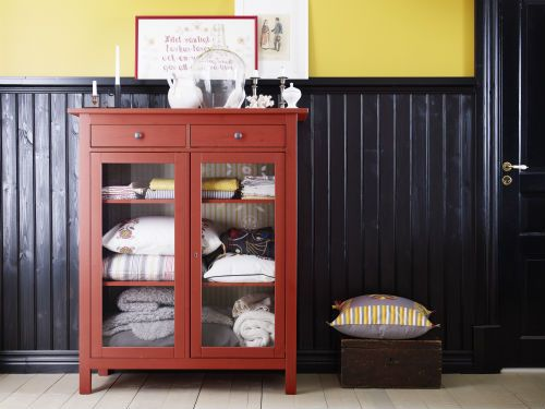 IKEA Fan Favorite: HEMNES linen cabinet. Made of solid wood with ...